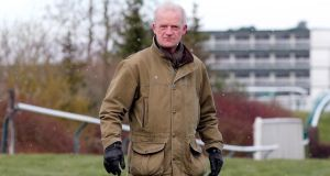 Trainer Willie Mullins at Cheltenham yesterday.  2013 Cheltenham Festival, Cheltenham, England 12/3/2013Trainer Will Photo: Dan Sheridan/Inpho