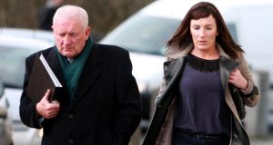 Maura Thornton  arriving with her solicitor Adrian McGlynn to Galway Central Criminal Court last January.