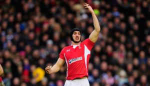 Sam Warburton of Wales gestures during the match between Scotland and Wales at Murrayfield. Photograph:  Stu Forster/Getty Images