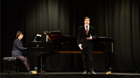 Eoin Hynes from Tuam  singing in the Count John McCormack Vocal Bursary competition during the 117th annual  Electric Ireland Feis Ceoil. Photo: Bryan O'Brien / THE IRISH TIMES
