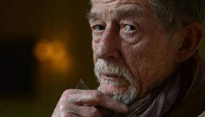 Unfazed: John Hurt says he's not concerned by the mention of the great Krapps who have preceded him, such as Patrick Magee, Harold Pinter and Michael Gambon. Photograph: Cyril Byrne