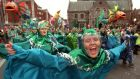 Remember your cultural roots: participants enjoying Dublin's St Patrick's Day Parade.