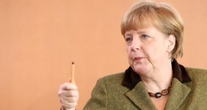 German chancellor Angela Merkel: the new biography suggests her grandfather was illegitimate. Photograph: Adam Berry/Getty Images
