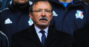 Italy's head coach Jacques Brunel.