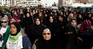Egyptian women on the streets in Port Said. Groups claim women have been attacked while on demonstrations in order to discourage them from taking part. Photograph: Ed Giles/Getty Images