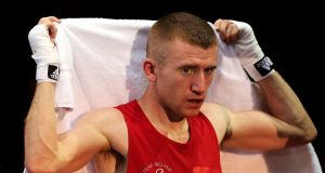 Paddy Barnes was forced to retire by the referee following a noise bleed. Photograph: Scott Heavey/Getty Images