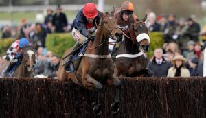 Bobs Worth ridden by Barry Geraghty (left) won the Cheltenham Gold Cup. Photograph: Joe Giddens/PA Wire