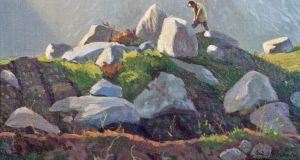 Detail from Sunlight and Shadows, Study In Connemara, Farmer At Work by Sean O'Sullivan (¤2,500-¤3,500) at Adam's