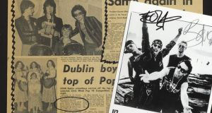 Claimed to be the first press clipping referring to the band U2. Page three of the Evening Press, dated March 20th, 1978, ¤500-¤700 at Whyte's