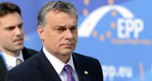 Hungary's Prime Minister Viktor Orban facing criticism, from the United Nation's human rights office, for Hungary's constitutional reforms. Photograph Laurent Dubrule (Reuters)