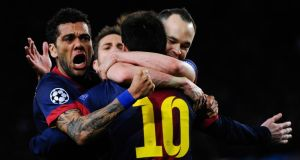 Barcelona will meet PSG in the Champions League quarter-finals. Photograph: David Ramos/Getty Images
