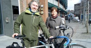 Damien Ó Tuama, events director, and  Muireann O'Dea, chairwoman, of the Dublin Cycling Campaign. Photograph: Dan Griffin