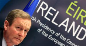Taoiseach Enda Kenny says EU must stick to pledge on debt relief for Ireland. Photograph: Yves Herman/Reuters