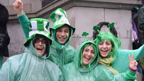 Matthew Debono, Karl Briffa, Ritianne Attard and Heather Scicluna from Malta in Dublin today. Photograph: Alan Betson/The Irish Times
