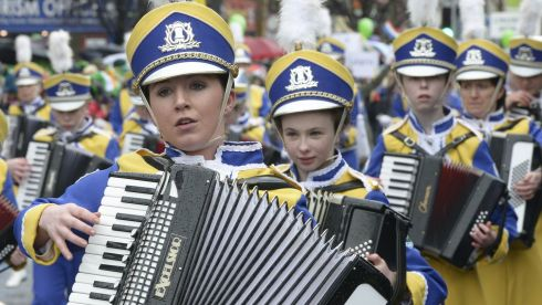 The Mayobridge Band from Co Down performing in the People's Parade, Dublin.Photograph: Brenda Fitzsimons / The Irish Times