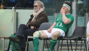 Brian O'Driscoll in the sin bin on Saturday.