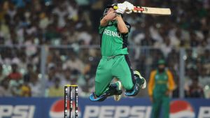 Gary Wilson finished unbeaten on 72 as Ireland beat the UAE by five wickets in a World Cup qualifier in Sharjah. Photograph:  Matthew Lewis/Getty Images