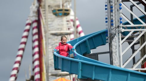 Funfair on Custom House Quay, Dublin during the Monday Bank Holiday St. Patricks Festival.Photo: Dara Mac Donaill / THE IRISH TIMES