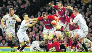 Wales' Sam Warburton may have played himself into the Lions squad as captain thanks to his performance against England on Saturday.  March 16, Photograph:  2013 Rebecca Naden/Reuters  . REUTERS/Rebecca Naden (BRITAIN - Tags: SPORT RUGBY)