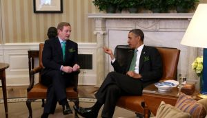 President Barack Obama meets Taoiseach Enda Kenny in the Oval Office of the White House in Washington today. Photograph: Doug Mills/The New York Times