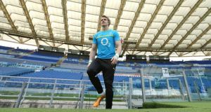 Ireland and Ulster wing Andrew Trimble has signed a two-year contract with the IRFU.  Photograph: Billy Stickland/Inpho