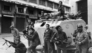 Security forces in Beirut during the Civil War in Lebanon, December 1975. Photograph: Keystone/Hulton Archive/Getty Images