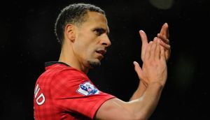 Rio Ferdinand of Manchester United applauds the fans at the end of the  Premier League match between Manchester United and Reading at Old Trafford last weekend. Photograph: Michael Regan/Getty Images