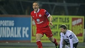 Sligo's Raffaele Cretaro after  scoring last night.