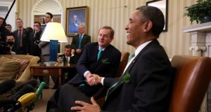 Taoiseach Enda Kenny with US president Barack Obama   in the Oval Office of the White House. Photograph: Doug Mills/The New York Times