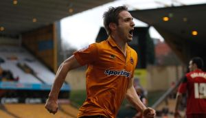 Kevin Doyle celebrates scoring for Wolves against Bristol City last weekend. Photograph: Harry Engels/Getty Images