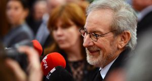 Film director Steven Spielberg at the Irish Premier of Lincoln in Dublin in January. The director will meet Enda Kenny in Los Angeles today to discuss the possibility of using Ireland as a location for movie production.  Photograph: Eric Luke/The Irish Times