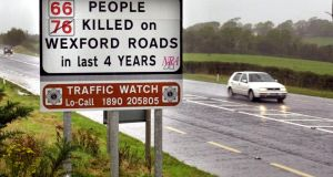 The Wexford-New Ross N25 road.