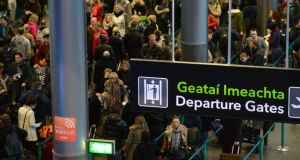 Passengers leaving terminal two at departures in Dublin Airport.Photograph: Cyril Byrne