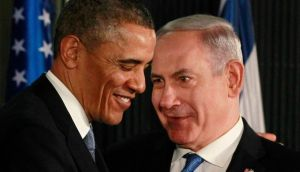 US president Barack Obama in a news conference with Israel's prime minister Binyamin Netanyahu in Jerusalem yesterday. It was clear both Mr Netanyahu and Mr Obama went out of their way to be super-friendly and forget tense meetings they have had in the past.