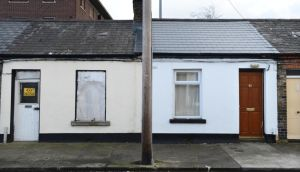 42 Eugene Street, Dublin 8. A couple yesterday settled damages after they and their four-month-old baby were mistakenly boarded-up in their home by a local authority. Photograph: Dara Mac Donaill