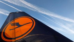 Lufthansa  cancels almost all domestic and European flights from six German airports today due to a labour strike. REUTERS/Kai Pfaffenbach/Files