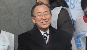 United Nations secretary-general Ban Ki-moon said today that the alleged use of chemical weapons in Syria would constitute a 'crime against humanity' . Photograph: Jamie McCarthy/Getty Images