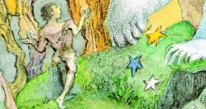 Influenced by William Blake: detail of a Maurice Sendak illustration from My Brother's Book