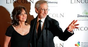 Film director Steven Spielberg with actress Sally Field at the Irish premier of Lincoln in Dublin in January. Mr Spielberg told Taoiseach Enda Kenny last night that he was interested in possibly working in Ireland in the future. Photograph: Eric Luke/The Irish Times