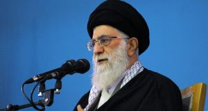 Iran's supreme leader Ayatollah Ali Khamenei: the Islamic Republic would destroy Tel Aviv and Haifa if it came under attack from the Jewish state, he said yesterday