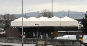 The present Waterside Railway Station in Derry with its  distinctive roof. Photograph: Trevor McBride