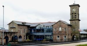 The unique 19th century Old Railway Station in Derry in its present state. Photograph: Trevor McBride