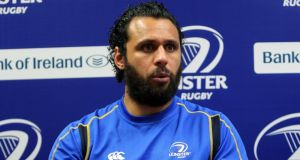 Isa Nacewa talking to the media. Photograph: Lorraine O'Sullivan/Inpho