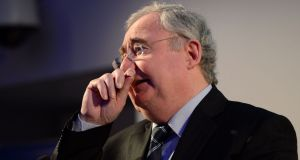 Minister for Communications Pat Rabbitte: wasn't going to take any lectures on unfinished estates. Photograph: Frank Miller