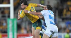 Australian international Adam Ashley-Cooper in action against Argentina. Photograph: Stephen Hight/Inpho
