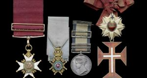 The medals of Sir George Magrath (1775-1857), awarded for his work as 'Inspector of hospitals and fleets for the royal navy', have a pre-sale estimate of £9,000-£12,000.