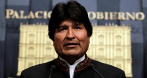 The government claims the men were involved in a plot to assassinate Bolivian president Evo Morales and foment secessionist violence in the antigovernment stronghold of Santa Cruz. Photograph: Reuters