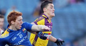 Lee Chin in action for Wexford footballers against Longford.