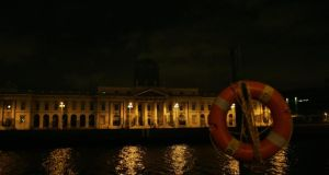 The Customs House in Dublin  during Earth Hour in  2008. Photograph: Aidan Crawley