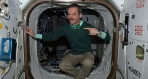 Astronaut Chris Hadfield celebrated St Patrick's Day from the International Space Station